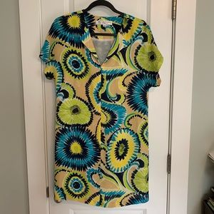 Trina Turk Dresses - 💙💚💛Trina Turk Belted Silk Dress
